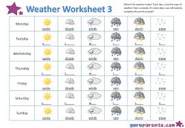 Kindergarten Weather Worksheets Weather Worksheets Guruparents