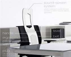 Ergonomic Office Furniture by Ergonomic Office Chairs With Unique Sound Screen Design