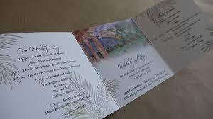 tri fold wedding invitations fold wedding invitations