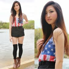 Black American Flag Tank Top Cece Lam Forever 21 Usa Flag Tank Top Urban Outfitters Black