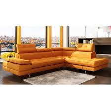 canapé d angle capitonné canapé d angle capitonné orange têtières relevab achat vente