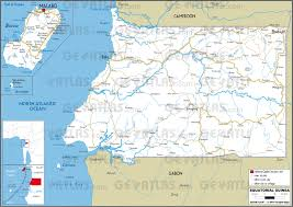 Equatorial Guinea Flag Geoatlas Countries Equatorial Guinea Map City Illustrator