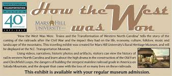 North Carolina travel programs images Nc transportation museum exhibit how the west was won jpg