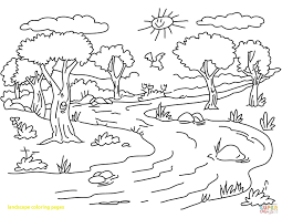coloring pages for landscapes landscape coloring pages with river page ribsvigyapan com african