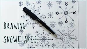 how to draw snowflakes christmas drawing for kids youtube