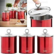 kitchen canister sets stainless steel kitchen canister set stainless steel w glass lid 3 sugar