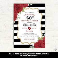 Invitation Cards For 60th Birthday Party Woman Birthday Invitation 60th Surprise Birthday