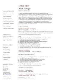 retail management resume resume exles for retail management exles of resumes