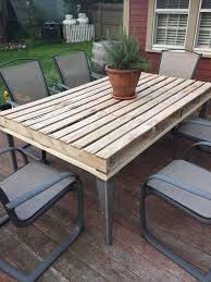Outdoor Furniture Made From Wood Pallets 58 Diy Pallet Dining Tables Diy To Make