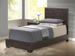 White Twin Bed Global Furniture 8103 Twin Pu Bed In Brown