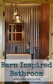 old blue silo barnhouse tour barn inspired half bath