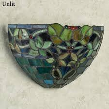 Wireless Led Wall Sconce Gemma Stained Glass Cordless Led Wall Sconce Wireless Light