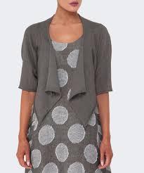 crea concept lyst crea concept linen shrug in gray