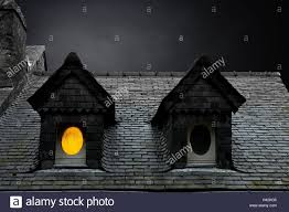 House Dormers Old Town Residential House Dormers Windows Lighting M Stock