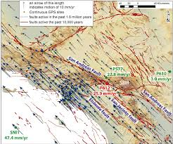 California Fault Map Station P612 Station Pages Gps Spotlight