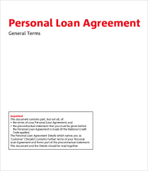 personal loan agreement template 9 free word pdf documents