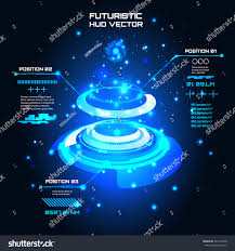 sci fi futuristic user interface info stock vector 283124348