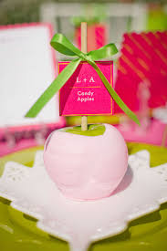 candy apple party favors you re the apple of my eye bridal shower