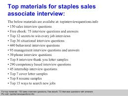Retail Associate Resume Example by Staples Sales Associate Interview Questions And Answers