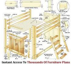 Bunk Beds With Desk Underneath Plans by Loft Bed Plans How To Build A Budget Loft Bed Woodworking Free