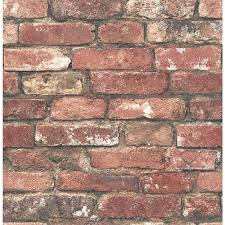 brewster loft red brick wallpaper fd23287 the home depot