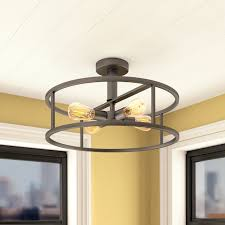 4 Light Semi Flush Ceiling Fixture by Brayden Studio Sargeant 4 Light Semi Flush Mount U0026 Reviews Wayfair