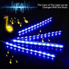 What Is The Color Of A Neon Light Amazon Com Car Interior Lights Ziste 4 Pieces Multi Color Led