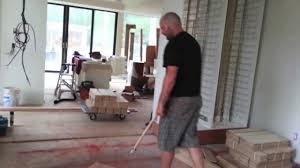 hardwood floor herringbone layout
