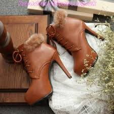 womens fashion boots uk 89 6 s boots brown toe stiletto lace up fur fashion