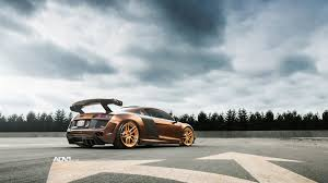 audi r8 gold dub magazine prior design audi r8 v10 on rose gold adv1 wheels