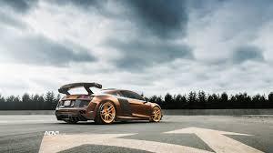 Audi R8 Gold - dub magazine prior design audi r8 v10 on rose gold adv1 wheels
