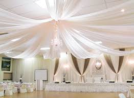 ceiling draping decor and lighting