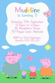 peppa pig party peppa pig party invitations marialonghi