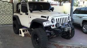 modified white jeep wrangler heavily modified jeep wrangler youtube
