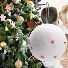 aliexpress com buy 6pcs lot white craft christmas balls