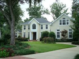 brilliant exterior design of light grey painted brick houses with