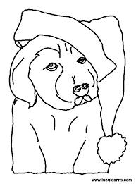 animal printable christmas dog coloring pages coloring tone