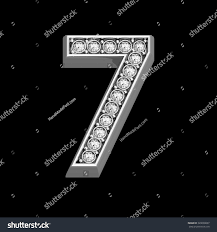 Stunningly by Stunningly Beautiful 7 Set Diamonds Silver Stock Illustration