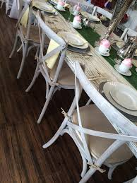 cross back whitewash chair tx event rentals