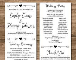 wedding program paper stock rustic wedding program ceremony program printable files