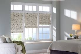 decorative window shades and blinds for master bedroom design with