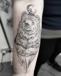 bear tattoo meaning and symbolism bears moon and tattoo