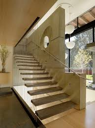 Lobby Stairs Design Floating Concrete Stairway To House 7 Cheng Design