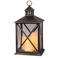 premier decorations lantern with 3 u0027dancing flame u0027 candles 40cm