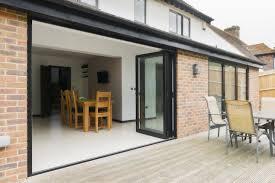Patio Door Design Ideas Exterior Interesting Home Design With Black Folding Patio Doors
