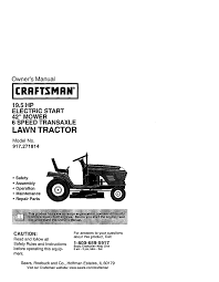 craftsman 917 271814 owner s manual