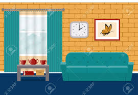 home interior vector living room flat interior vector home design lounge with furniture