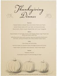 thanksgiving day menu templates happy thanksgiving