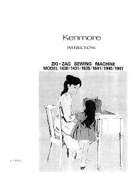 kenmore sewing machine 1641 user guide manualsonline com
