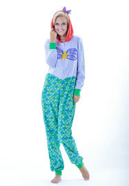 Mermaid Halloween Costume Adults Disney Pajamas Ariel Cosplay Onesie Cozy Pjs